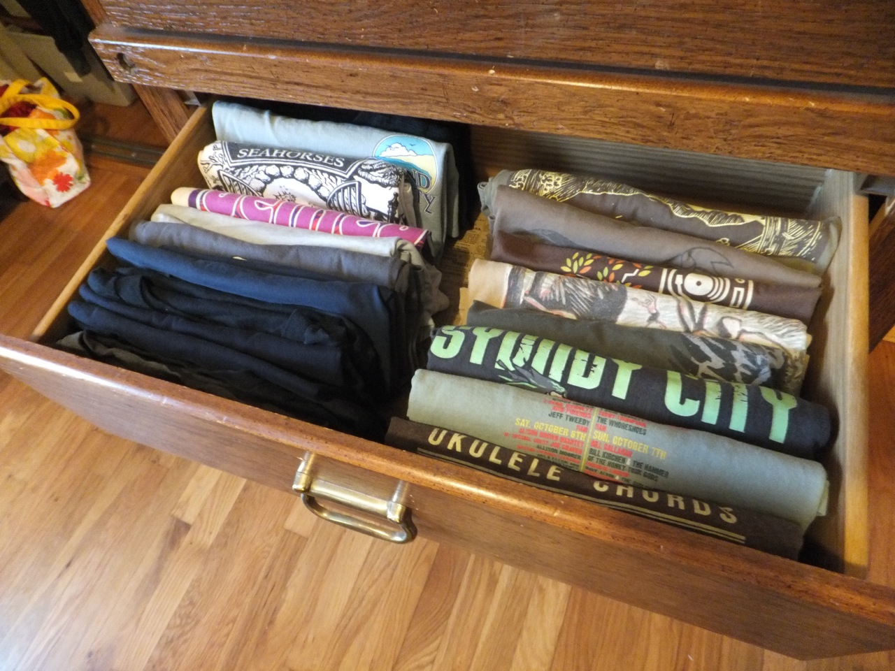 Does this t-shirt drawer belong to someone you know?