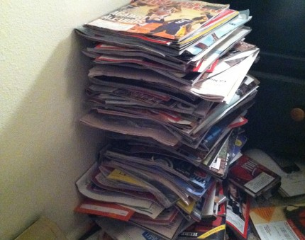 You  can hold onto your favorite magazine collections by simply cutting out the pictures, articles, recipes you want and recycling the rest. Imagine letting go of over 50% of those piles without getting rid of what matters most to you. Here's what I do when I get my monthly subscription of Sunset Magazine: