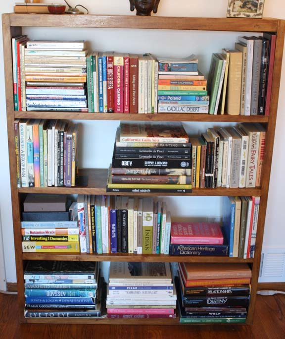 Bookshelf Organizing Whole
