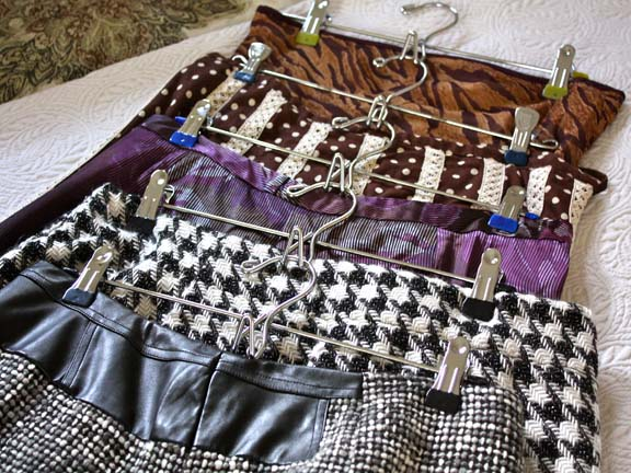 skirts on hangers