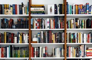 book_shelf_clutter_declutter_downsize_minimalize